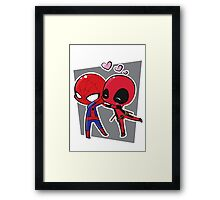 Spideypool Framed Print