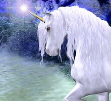 Star .. a white unicorn by LoneAngel