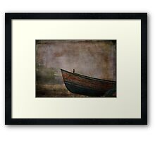 Beached Dinghy Framed Print