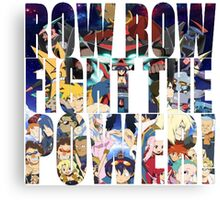 Row row fight the power ! 3 Canvas Print