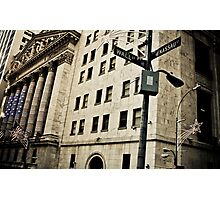 Wall St Photographic Print