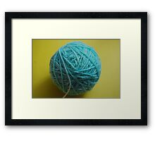 home dyed yarn Framed Print