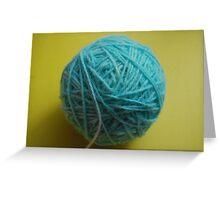 home dyed yarn Greeting Card