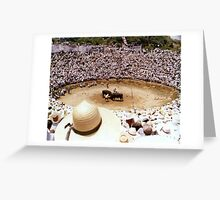 Bull Fighting in OKINAWA 1970 Greeting Card