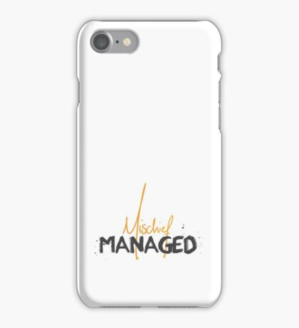 Mischief Managed 1 iPhone Case/Skin