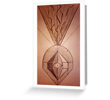 The All Seeing Compass. Greeting Card