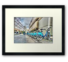 Borris Bikes Framed Print