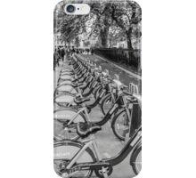 Black and White Borris Bikes iPhone Case/Skin