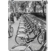 Black and White Borris Bikes iPad Case/Skin