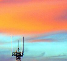The Antenna in the evening sky by Guy Tschiderer