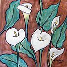 Arum Lilies IV by Alexandra Felgate