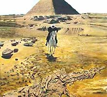 Rider in front of a Pyramid by Heinz Sterzenbach