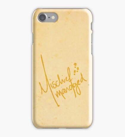 Mischief Managed 2 iPhone Case/Skin