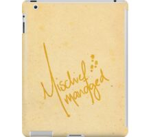 Mischief Managed 2 iPad Case/Skin