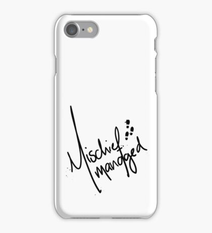 Mischief Managed 3 iPhone Case/Skin