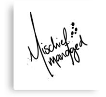 Mischief Managed 3 Canvas Print