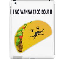 Taco Face Unhappy Pun iPad Case/Skin