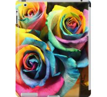 Colorful Bouquet of Rainbow Roses iPad Case/Skin
