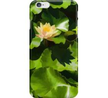 Light, Shadow and Color - Waterlily Pad Impression iPhone Case/Skin