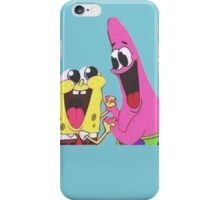 Sponge bob and Patrick happy as ever iPhone Case/Skin