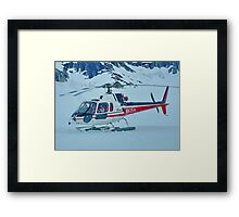 Helicopter On Top of the World  :  On the Glacier Framed Print