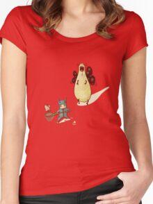 Butt... Women's Fitted Scoop T-Shirt