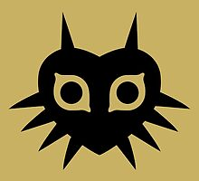 Majora's Mask (Solid, black) by hopperograss