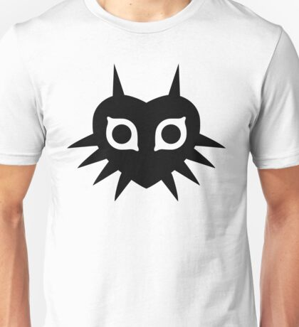 Majora's Mask (Solid, black) Unisex T-Shirt