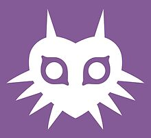 Majora's Mask (Solid, white) by hopperograss