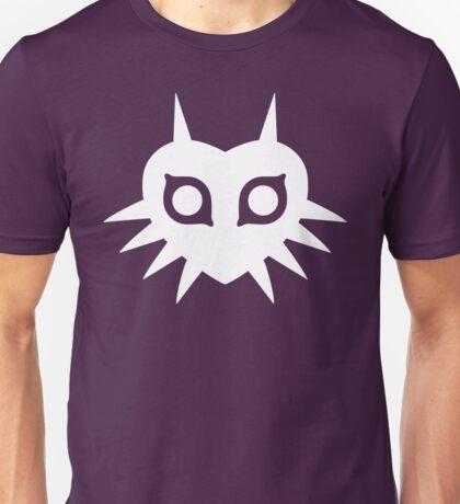 Majora's Mask (Solid, white) Unisex T-Shirt
