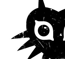 Majora's Mask (Grunge, black) by hopperograss