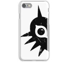 Majora's Mask (Grunge, black) iPhone Case/Skin