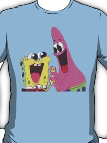 Sponge bob and Patrick happy as ever T-Shirt