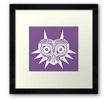 Majora's Mask (Tattoo, white) Framed Print