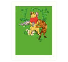 Winnie the Pooh bear gone crazy Art Print