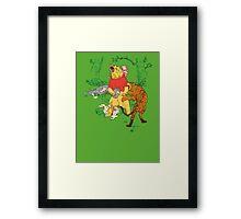 Winnie the Pooh bear gone crazy Framed Print