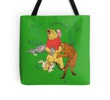 Winnie the Pooh bear gone crazy Tote Bag