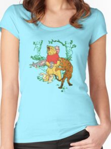 Winnie the Pooh bear gone crazy Women's Fitted Scoop T-Shirt