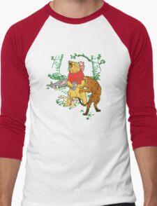 Winnie the Pooh bear gone crazy Men's Baseball ¾ T-Shirt