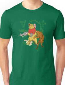 Winnie the Pooh bear gone crazy Unisex T-Shirt