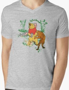 Winnie the Pooh bear gone crazy Mens V-Neck T-Shirt