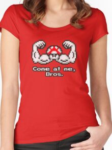 Come at me, Bros. Women's Fitted Scoop T-Shirt