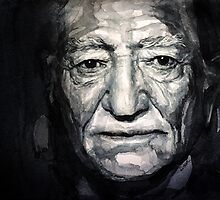 Willie Nelson watercolor by lauiduc