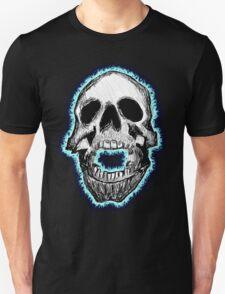 Flaming Skull Tee (blue) T-Shirt