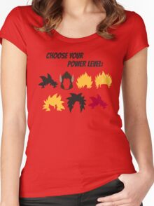Choose Your Power Level Women's Fitted Scoop T-Shirt