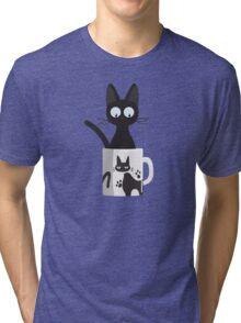 Cat In A Mug Tri-blend T-Shirt