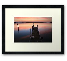 A new day dawns, Mallacoota, Australia Framed Print