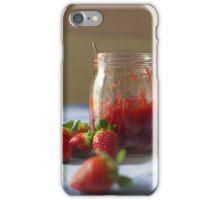 Strawberry marmalade in a glass jar iPhone Case/Skin