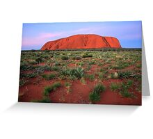 Ayers Rock (Uluru) Sunset, Australia Greeting Card
