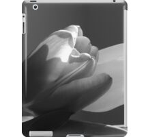 Two tulips in black and white iPad Case/Skin